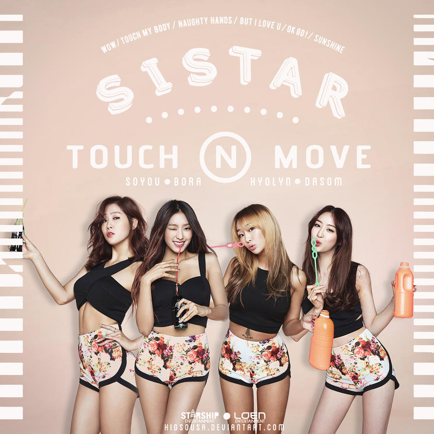 Touch and Move - SISTAR CD Cover II by HigSousa