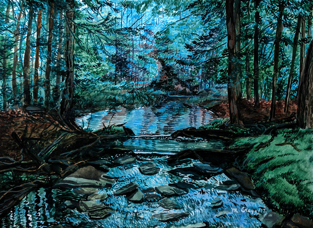 Forest Pool by cirruscastle