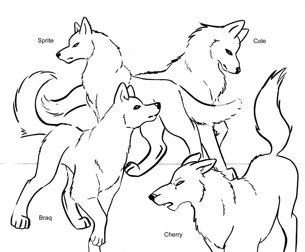 pack of dogs coloring pages - photo#20