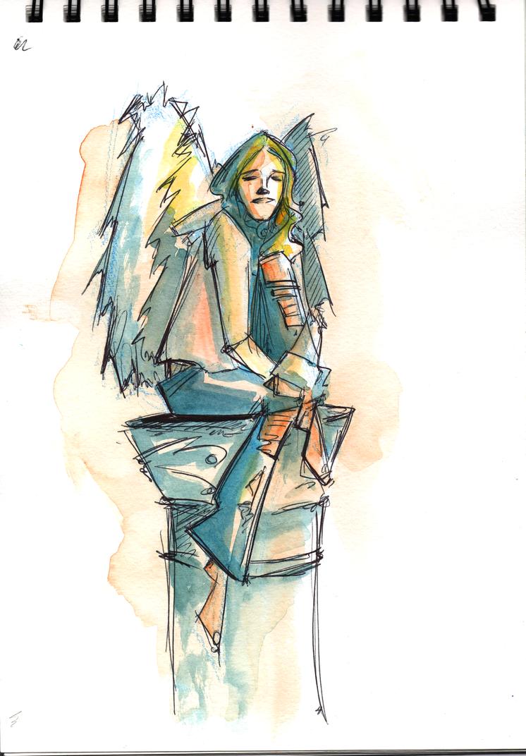 Angel Sketch by jwebsterart