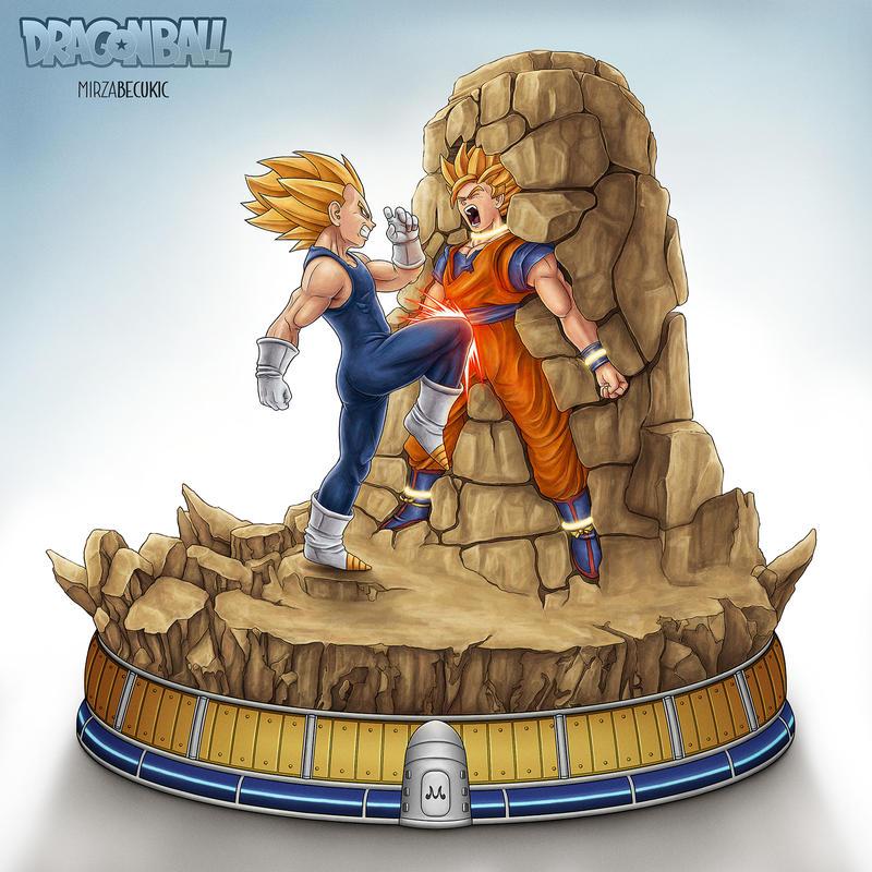 Vegeta VS Goku by MirzaBecukic