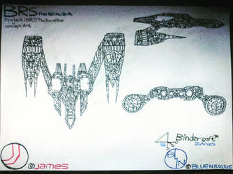 BRS The Recalibur Concept Art Enemies Ship 06 by BindersoftGames