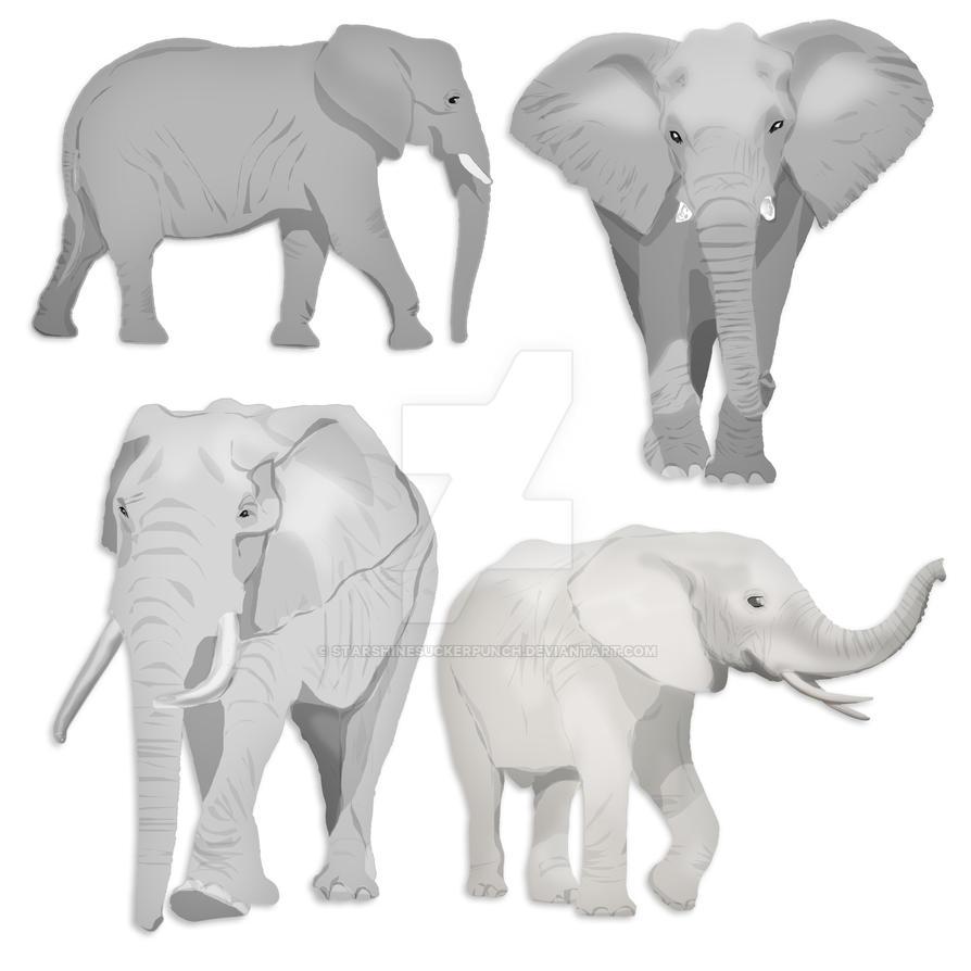 Elephant Vector Clip Art by starshinesuckerpunch on DeviantArt