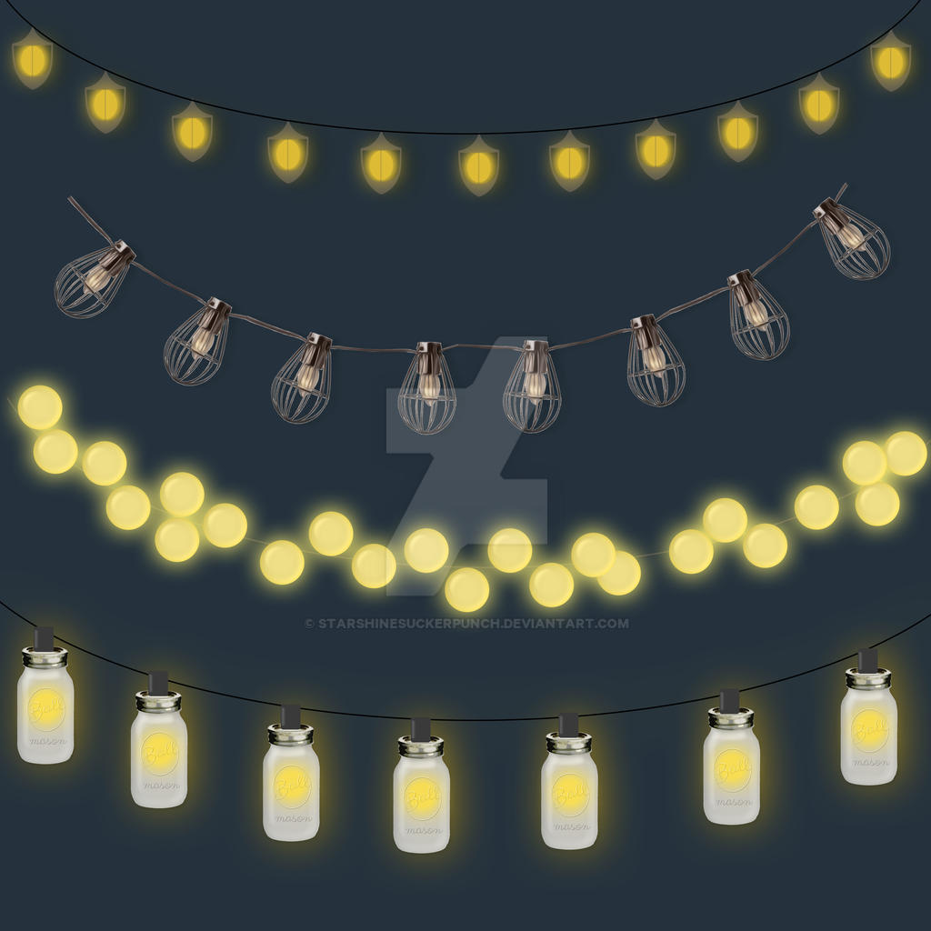 Outdoor String Lights Clipart by starshinesuckerpunch on DeviantArt