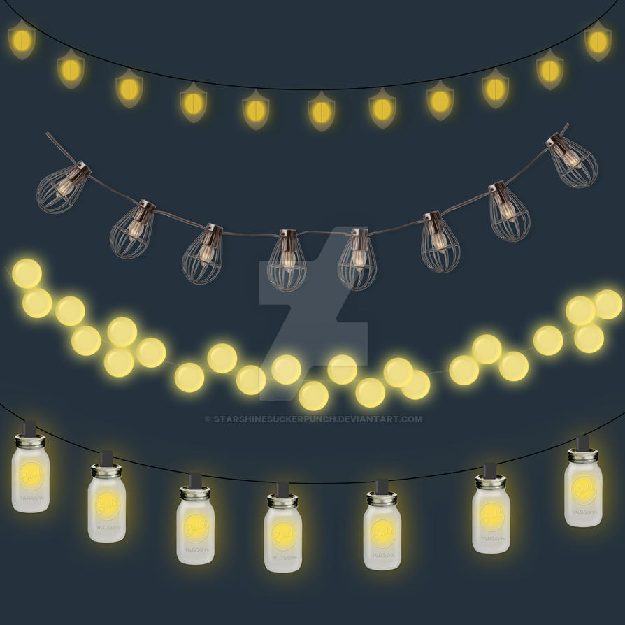 String Lights Art : Outdoor String Lights Clipart by starshinesuckerpunch on DeviantArt