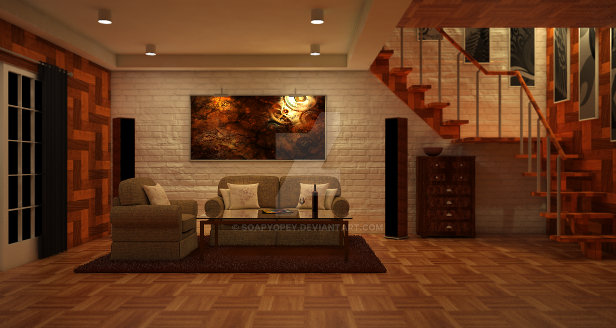 Brown living room by soapyopey on deviantart for Living room c o maidstone