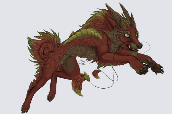 Dragon Dog By LimeGreenBean On DeviantArt