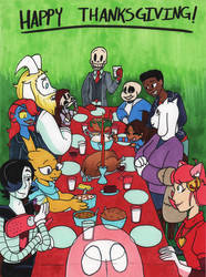 Happy Thanksgiving from SkeleChara by InsanelyADD