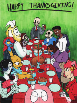 Happy Thanksgiving from SkeleChara