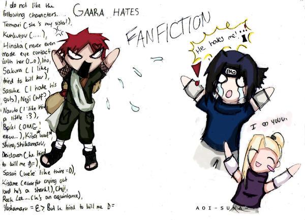 Gaara Hates Fanfiction xD by aoi-suna on DeviantArt Gaara And Kankuro Brothers