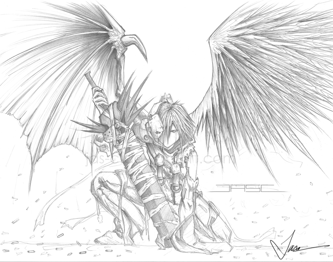good and evil by jas c on deviantart