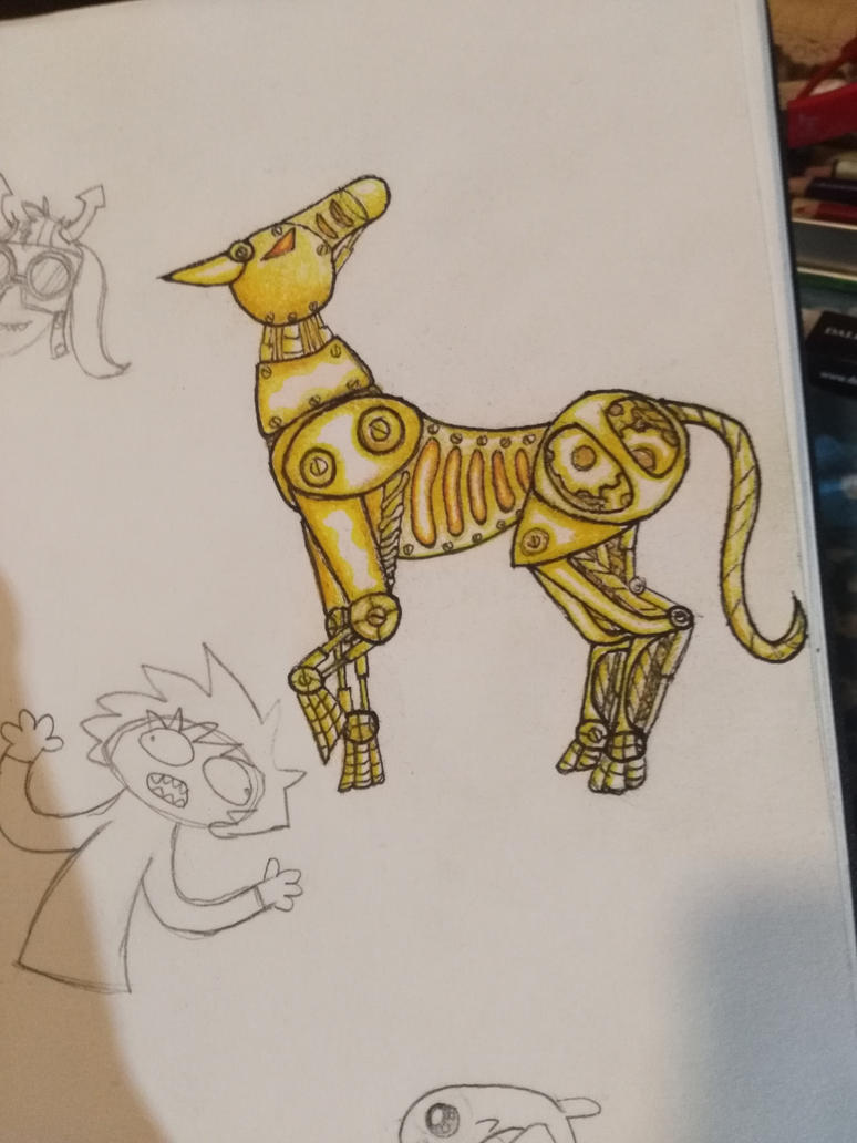 steampunk horse by expellingsecrets