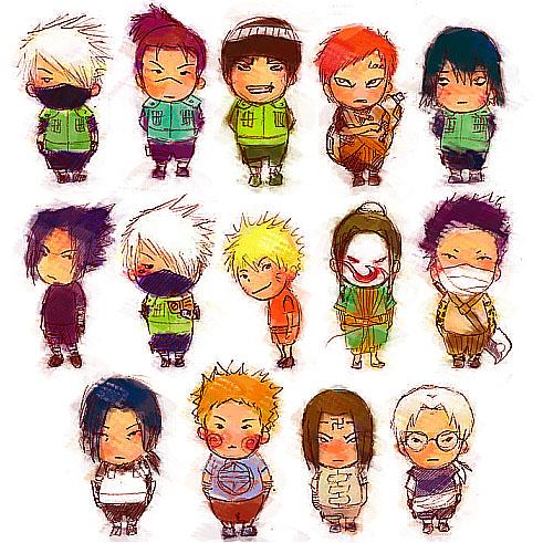 Chibi Naruto Characters By Mgdln