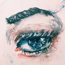 Watery Eyes by angelayiliu