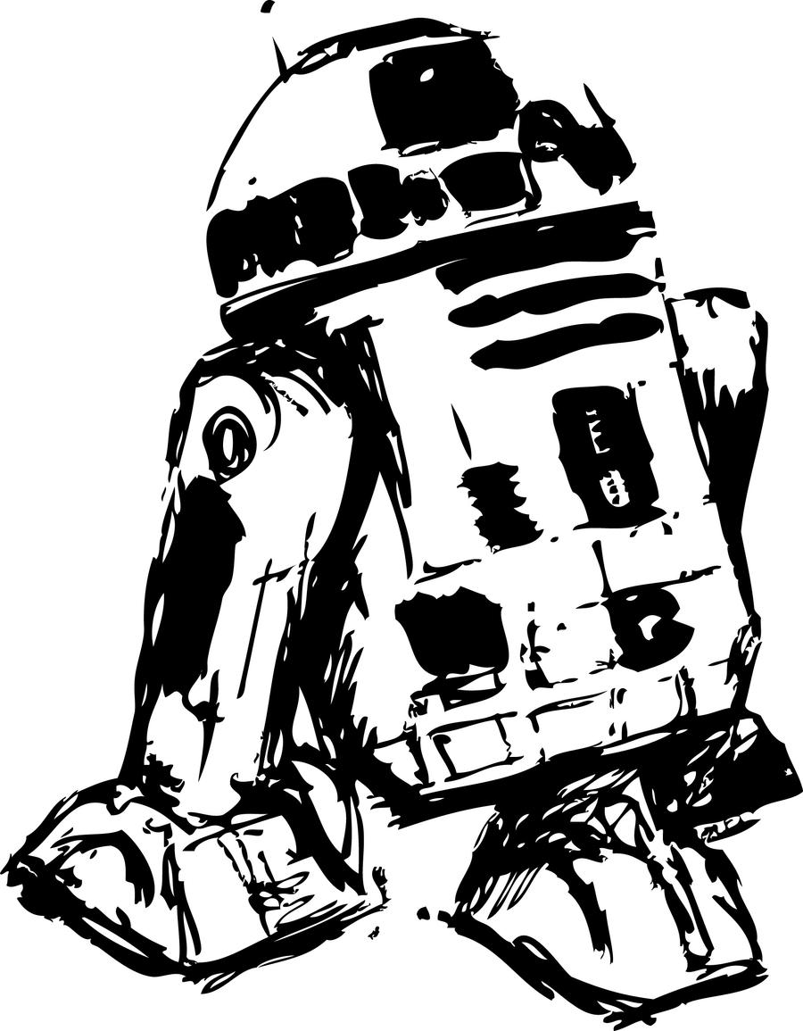 R2d2 Black And White R2d2 Silhouette   www....