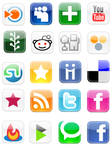 Social Bookmarking Web icons