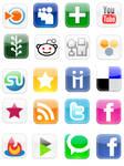 Social Bookmarking Web icons
