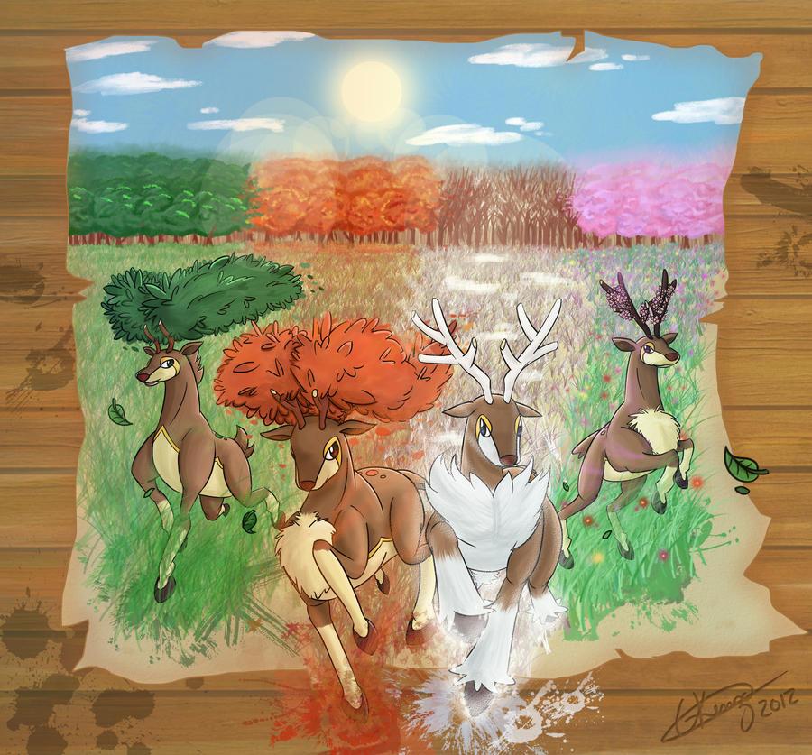 Sawsbuck - The Seasons by Gkenzo
