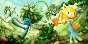 Vinicius e Tom - Rio 2016 Olympic Games Mascots by Gkenzo