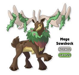 Fakemon: Mega Sawsbuck by Gkenzo
