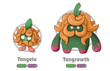 Fakemon: Tangela and Tangrowth Regional Variant by Gkenzo