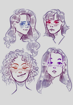 Sketches | Blushy girls