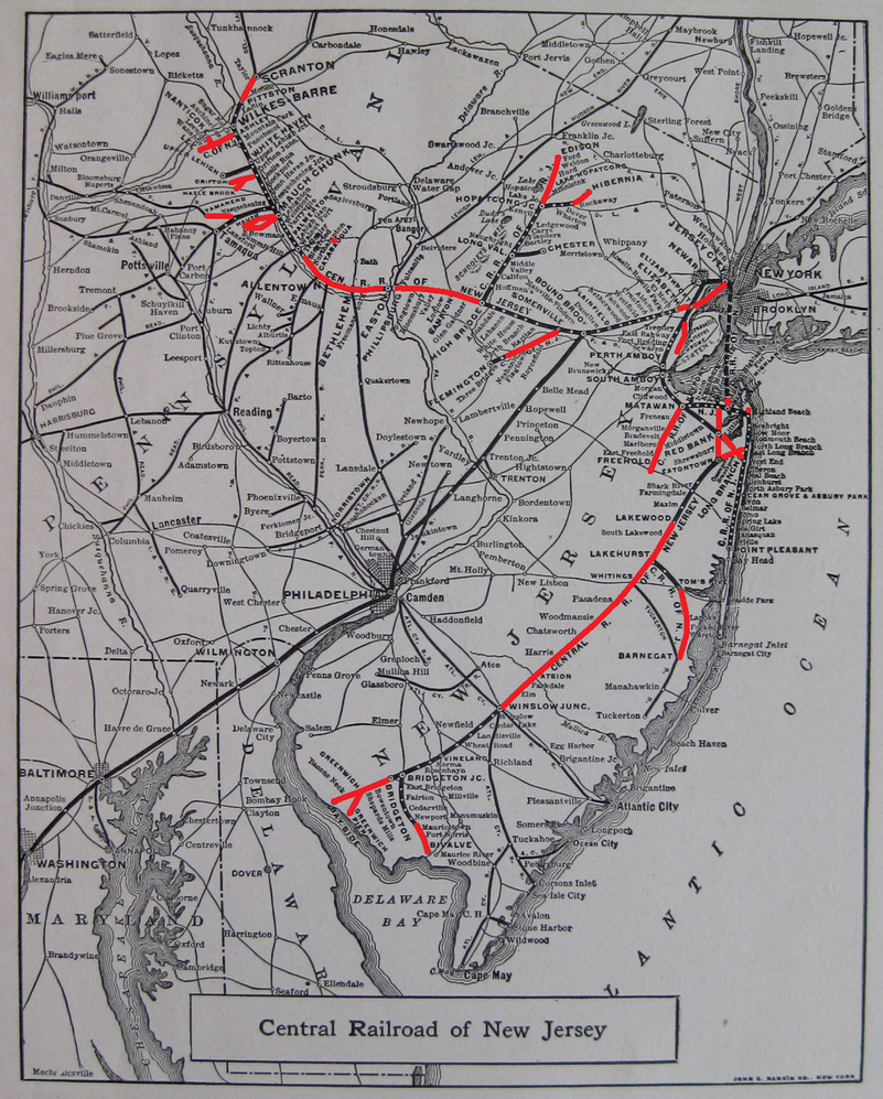 Active Central Railroad Of New Jersey Trackage By O484 On