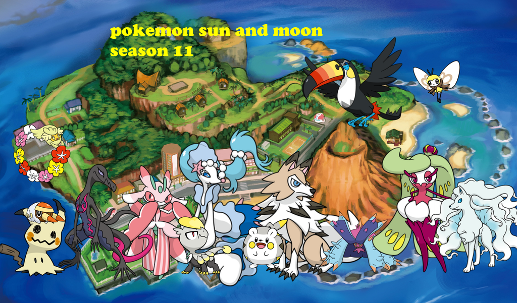 Pokemon Sun And Moon Wallpaper: Wallpaper Pokemon Sun And Moon Season 11 My Anime By