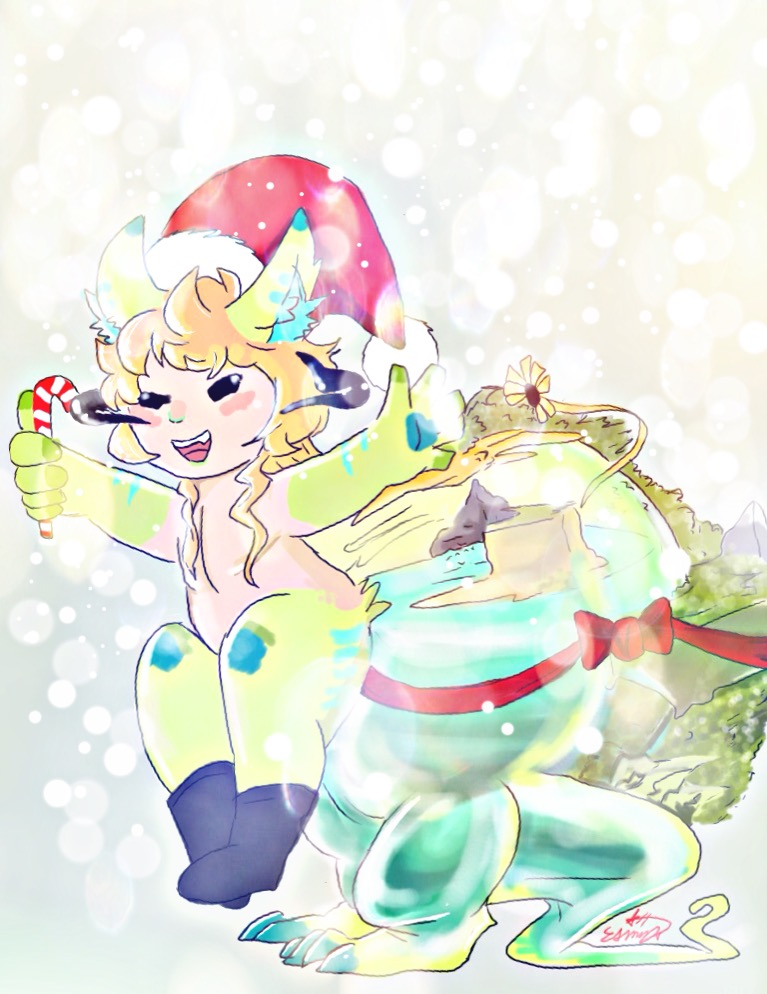 merry chrismas from jungle boy by Esmy-cinnamonroll