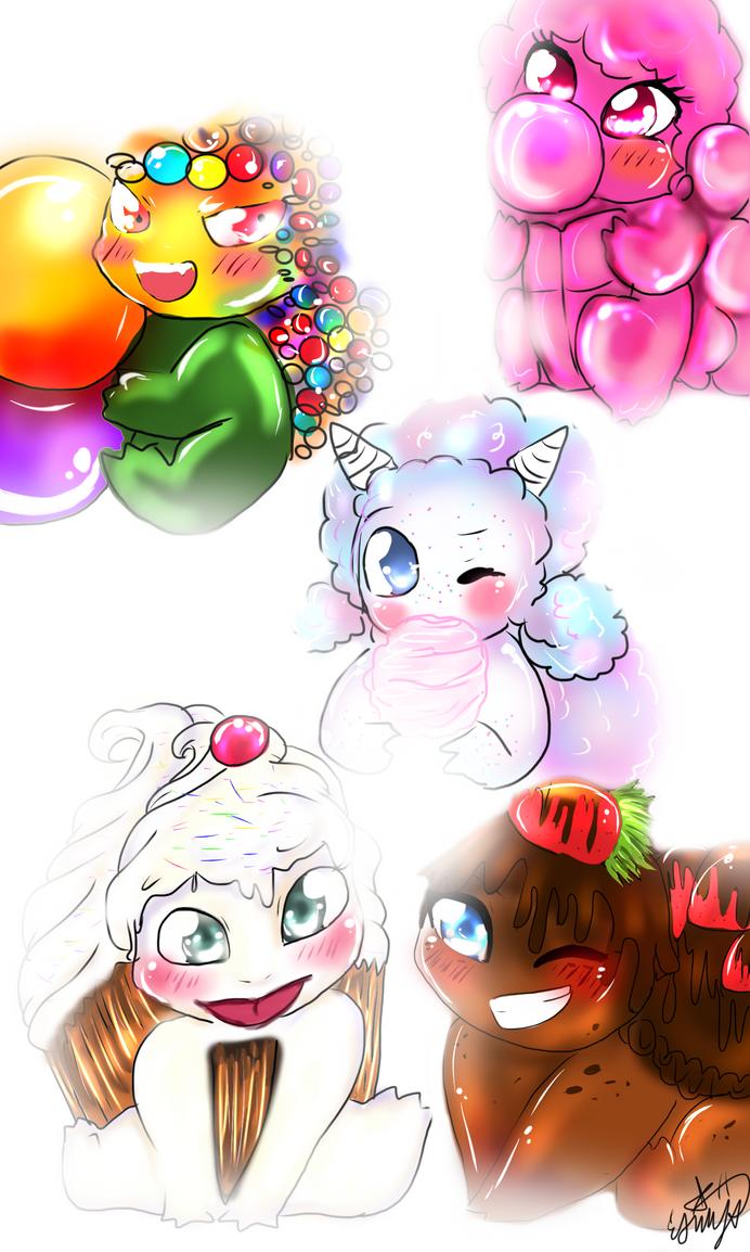 My babies by Esmy-cinnamonroll