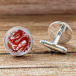 Chinese dragon cufflinks by JuliArtWorks
