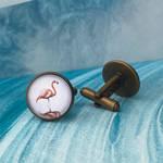 Flamingo cufflinks by JuliArtWorks