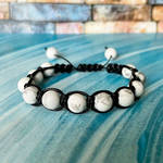 White Turquoise beaded bracelets by JuliArtWorks