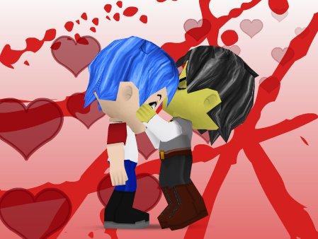 Murdoc kiss 2Ds front by Sanguinolentus-Sol