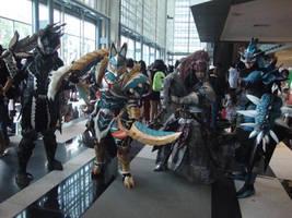 AFA Singapore 2013: Monster Hunters Unite by DragonicHeaven