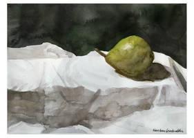 still life with pear by czochanska