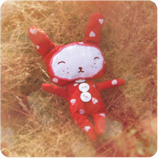 bunny in pajamas by czochanska