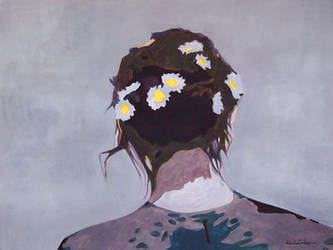 chamomile in her hair by czochanska