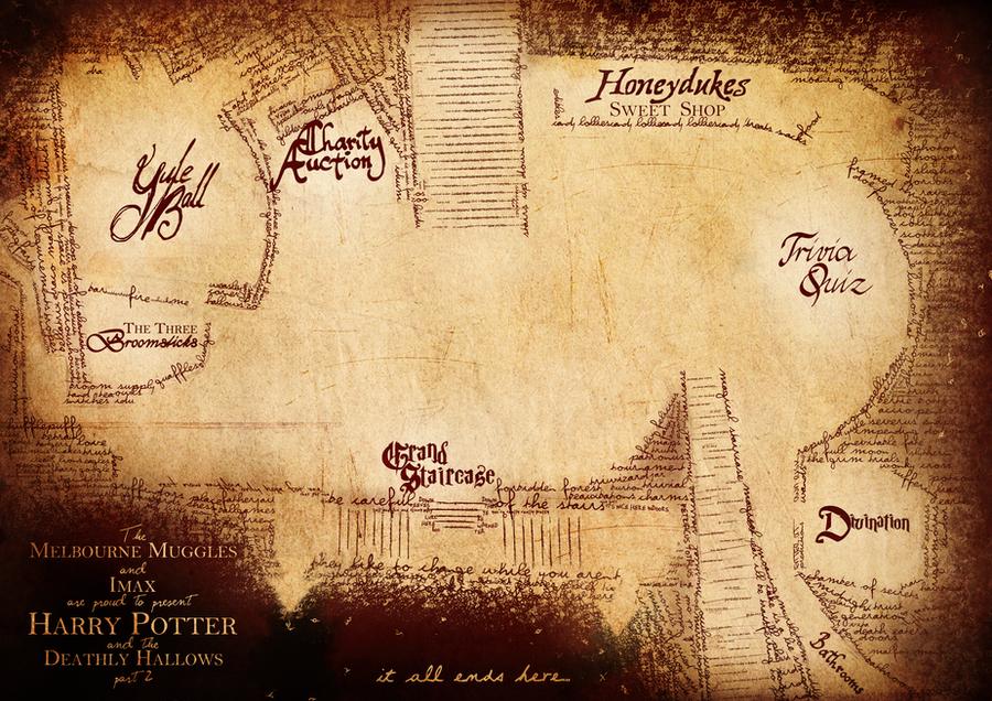 Harry Potter Release Party Map by AcidIntimacy on DeviantArt