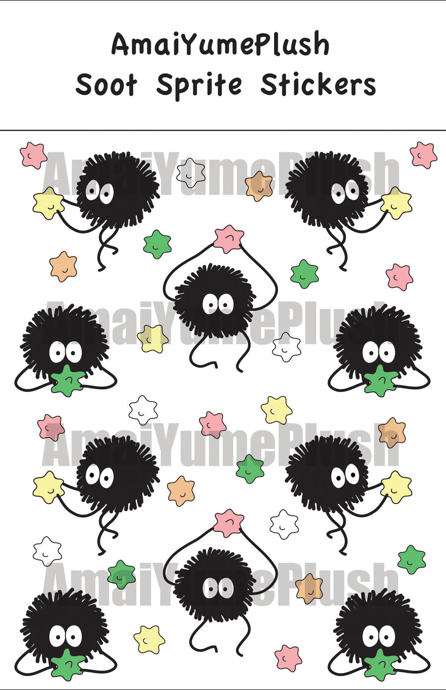 Spirited Away Soot Sprite Stickers Set Of 10 By Hazuhazuheavn On Deviantart