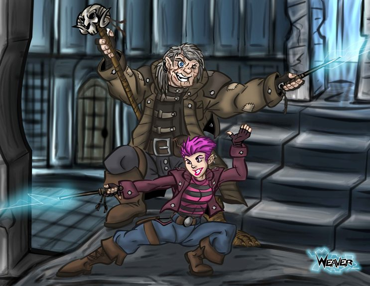 Tonks and Mad Eye Moody by Odd-Voodoo on DeviantArt