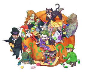 Gotham villians Halloween by NRjin