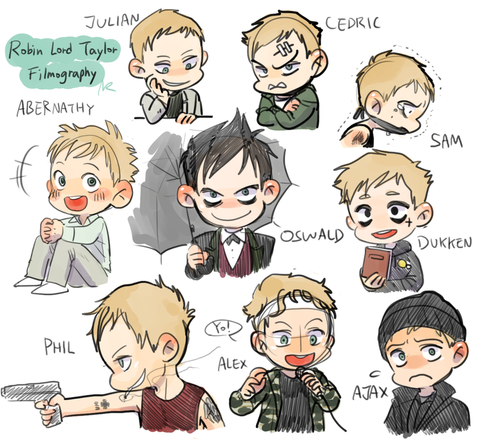 Robin Lord Taylor filmography characters SD by NRjin on ... Gaara Chibi