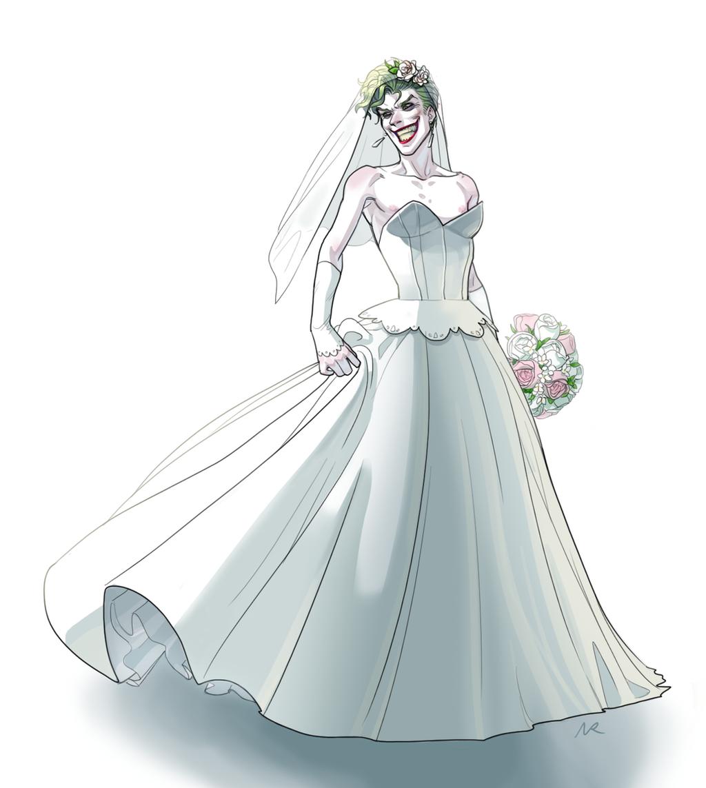 Joker in wedding dress by NRjin on DeviantArt