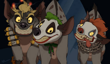 My favorite clowns(Lion king hyenas traced) by NRjin