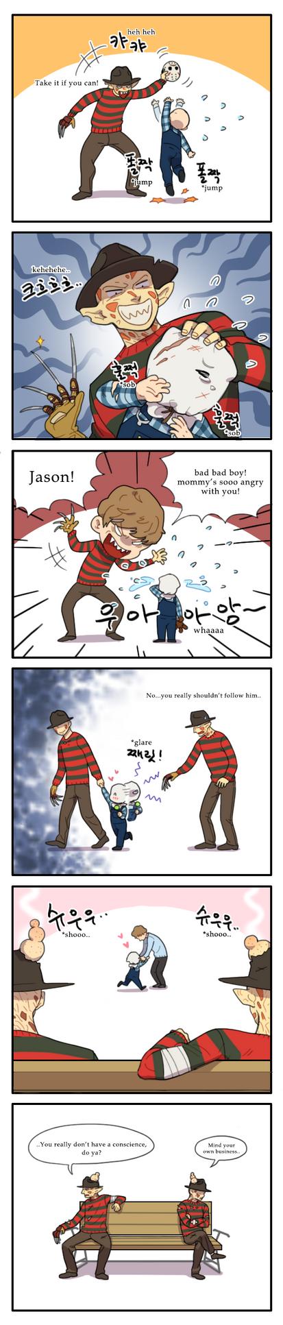 Original Freddy and little Jason by NRjin