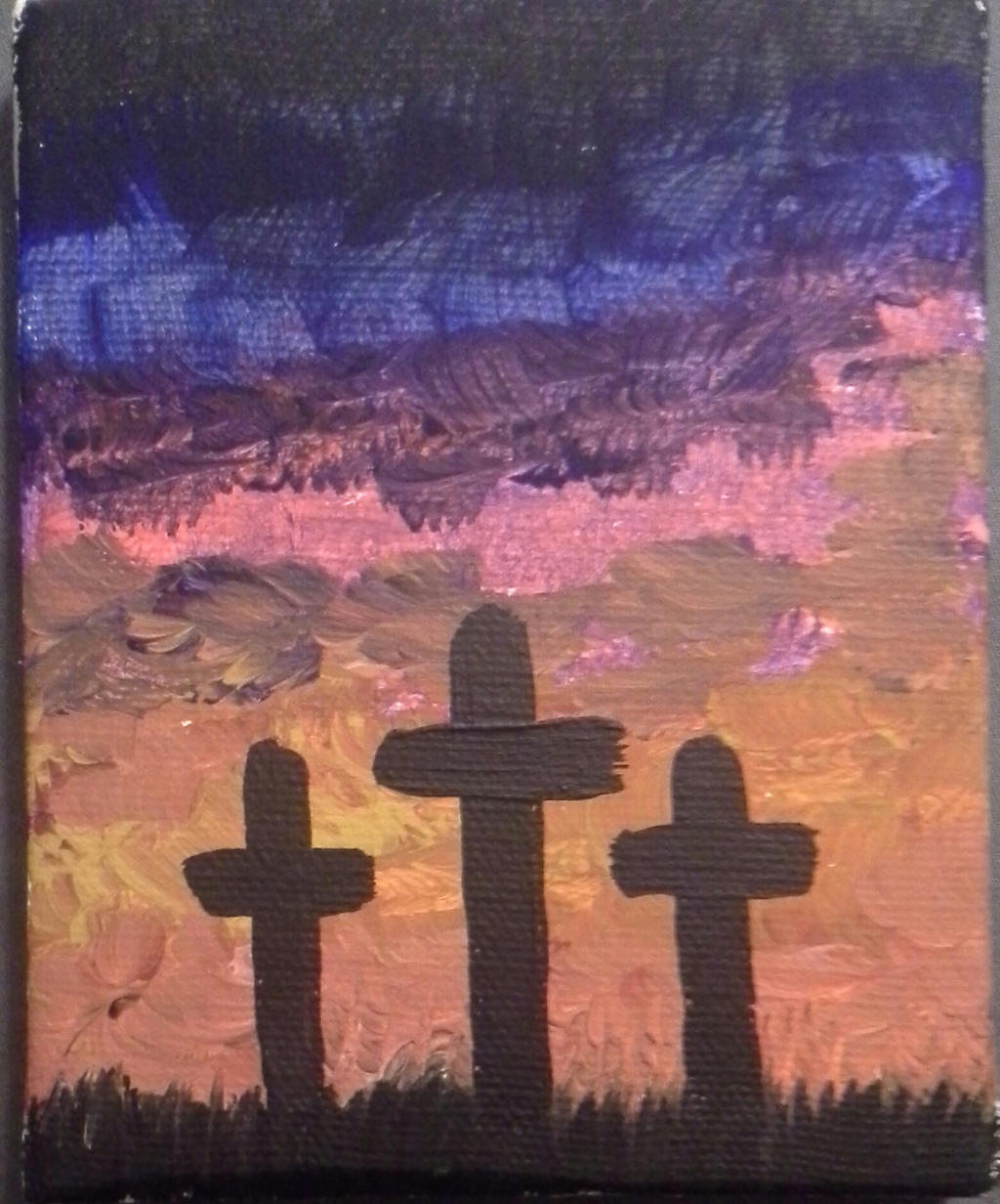 Three Wooden Crosses by staceycole