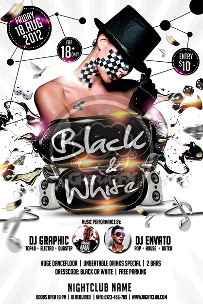 Black And White Affair Flyer Template By Koza30 On Deviantart