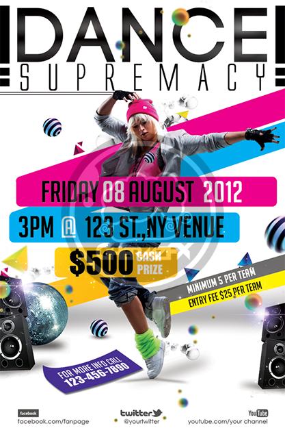 Dance Supremacy / Dance Battle Flyer Template by koza30 on DeviantArt