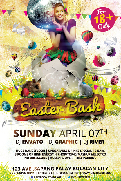 Easter Bash Flyer Template By Koza30 ...